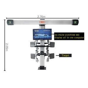 Car 3d four-wheel alignment 32-inch hd dual-screen display, send installation video