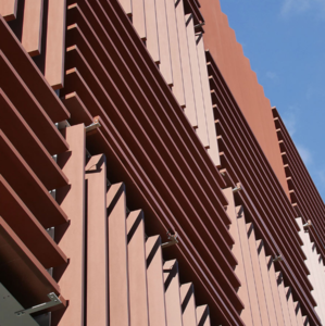 Corten Steel Curtain Wall for Building Outdoor Decoration