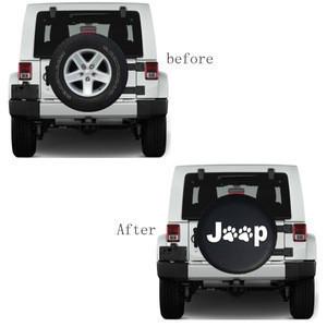 Custom Car  13 14 15 16 17 Inches Black PVC  Car Spare Wheel Tire Soft Cover