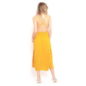 Custom Oem Yellow Clothing Camisole Dress Style Summer Dresses Women Lady Elegant