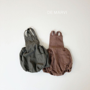 DE MARVI Baby Infant Cotton Comfort Sleeveless Rompers Overall Clothes Wear OEM Wholesale MADE IN KOREA