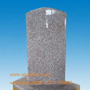 Import Directly Factory Pearl Flower Granite Tombstone Monument from China