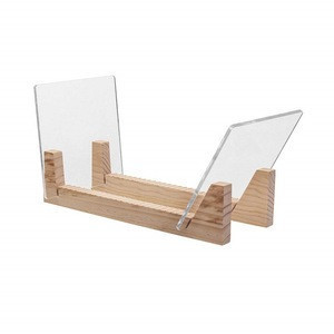 Factory made wooden record display stand with clear acrylic frame provide sample in stock CD store dis display rack