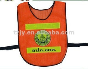 Good Reputation Factory Price Neon Orange Reflective Vest With Reflective Tape