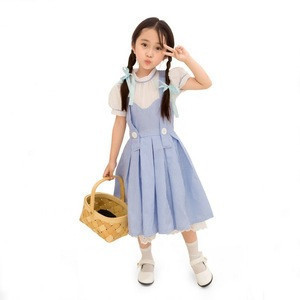 Halloween Girls Kids Dorothy Country Costume Fancy Dress New Book Week Outfit