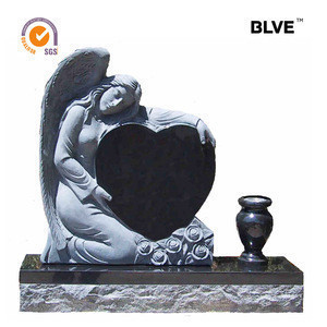 Heart design hot sale monuments stone classic weeping angle gravestone MTA-20