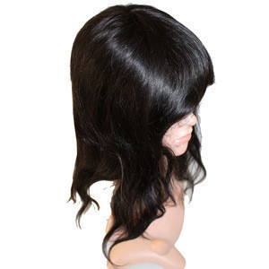 High quality human hair toupee for women