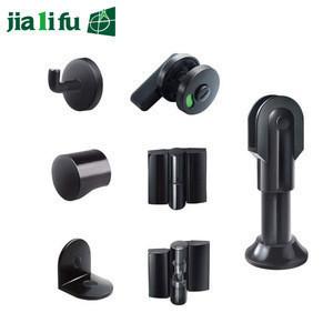 Jialifu black nylon toilet cubicle partition accessories