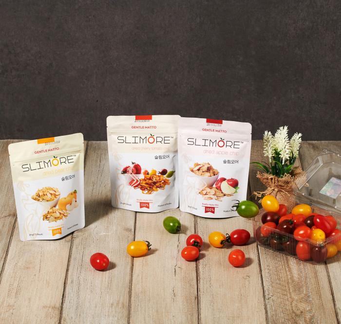 Korean Dried Fruit Cherry Slice Apple Chips Healthy Organic Sweet Snacks (Slimore)