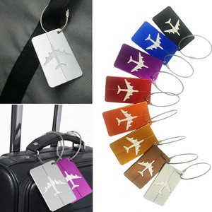 Metal Travel Luggage Label Luggage ID Label Aluminum Suitcase Label Belt Rack Novelty Flight Luggage Card Travel Accessories