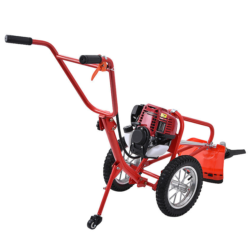 Multi-purpose Hand-push Type Portable Weeding Machine Lawn Mower Soil Loosening Machine With Four-stroke GX35 140 Engine 1900W