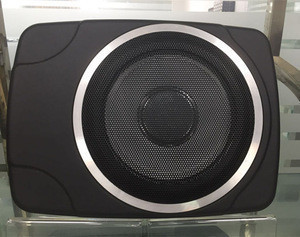 Newest 10inch active subwoofer,thin type subwoofer for car audio with amplifier