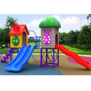 Outdoor plastic kids play ground slide amusement area outdoor playground gym equipment