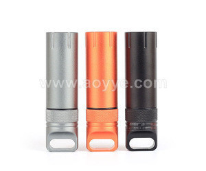 Outdoor portable super-sized outdoor high strength fully sealed waterproof jar tool metal aluminum bottle pill box