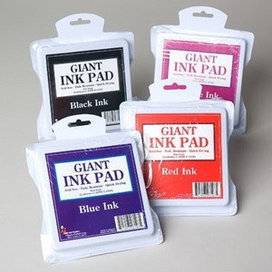 PAINT PAD 6IN DIA 4AST COLORS USE W/STAMPS,HANDS OR FEET #G28103