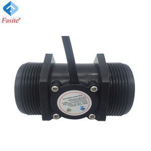 Plastic brass hall effect water flow sensor for water heater, boiler, coffee machine