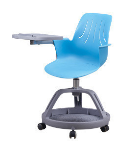 Plastic School Student Classroom Furniture Office Training Study Chair Node Tripod Base Chair with Tablet Writing Pad