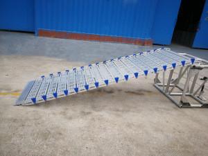 Portable car aluminum alloy loading ramps,  motorcycle ramp