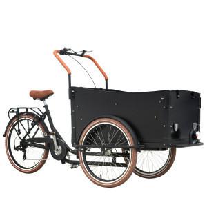 Rickshaw 7 speed high carbon steel cargo tricycle V brake 24 26 inch passenger cargo tricycle