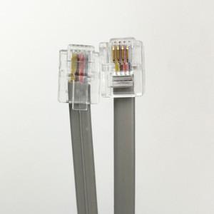 RJ11 6P4C to 6P4C telephone jumper cable