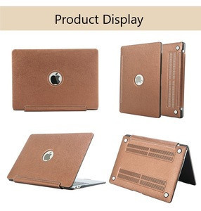 RKINC Slim Silk PU Skin Leather Finish Hard Shell Case for Mac Laptop Cover Case for Apple Macbook 13.3 Pro (A1706/A1708/A1989)
