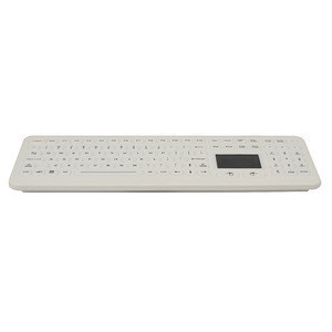 Rugged Silicone Rubber Hygienic Medical Washable Keyboard Industrial With Touchpad Desktop