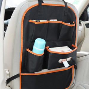 Top grade Multi-Function Universal Car Seat Back travel kids toy storage seat back protector car seat organizer bag with oxford