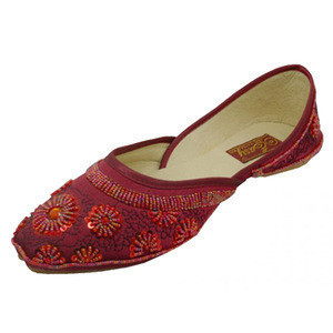 Women's Satin Quilted Shoes With Sequin