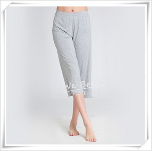 Womens Bamboo Jersey Spring Summer Pajama Lounge Pants 3/4 Length