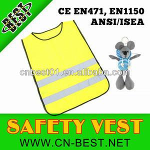 Yellow Child Hi Viz Safety Vest Hi Visibility Waistcoat Children's Hi Vis Vest