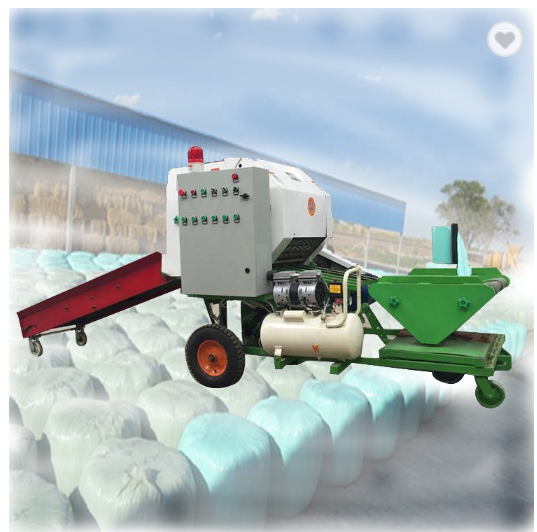 Shuliy automatic straw corn silage baler machine for sale diesel engine hay baler and wrapper