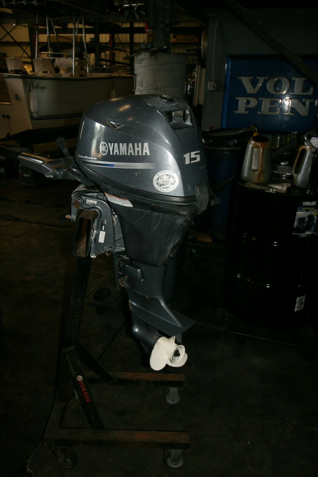 Used Yamaha 15HP 4-Stroke Outboard Motor Engine