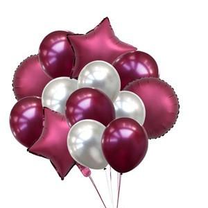14pcs 12/18inch Heart/Star Shape Metallic Helium Balloons Confetti For Birthday Wedding Festival Balon Party Decorations Supplie
