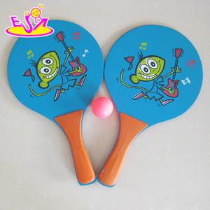 2015 Top quality wooden beach tennis racket,Outdoor Wooden Beach tennis racket,Wooden beach racket with ball wholesale W01A094