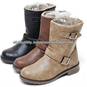 2sbd0838 winter fur synthetic leather riding boots