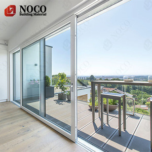 American style patio veranda aluminium slide doors soundproof double glass aluminum heavy duty lift up sliding door