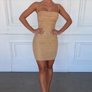 Aselnn Hot selling backless sequin women bodycon mini slip party dress girls