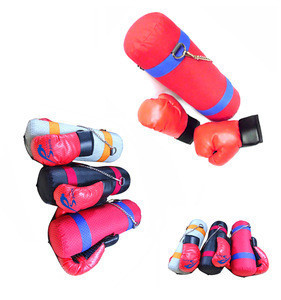 Boxing gloves punching bag set for kid training kick cloth outside with cotton boxing item