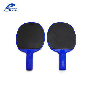 Bule Color PP Plastic Material Pingpong Table Tennis paddle Racket/with double sides cushion TPR paddle