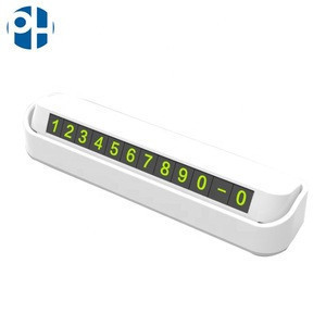 Car Accessories  Car Temporary Parking Card Telephone Number
