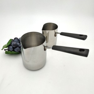 Cheese tools Milk Warmer Butter Melting Pot with handle Turkish Coffee Warmer