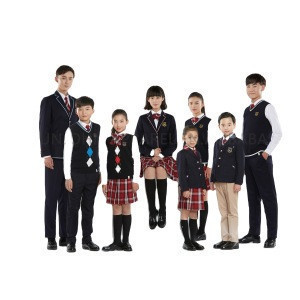 Custom Chinese uniform woven fabric design with pictures school uniforms suits