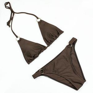 Fashion Strap design exotic Halter 12 year old girl bikini