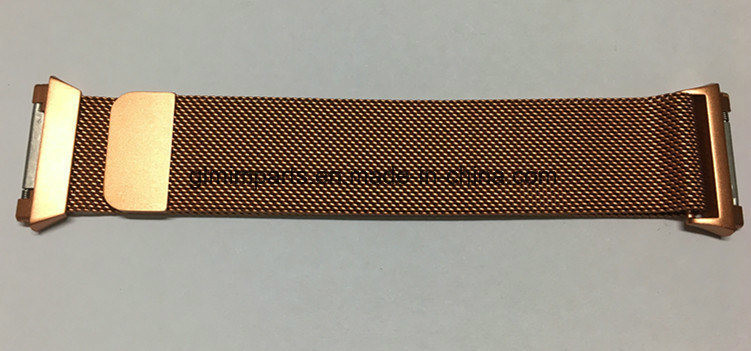 Fitbit Ionic Band with Magnetic Milanese Loop Stainless Steel Magnet Lock Gold Color Band