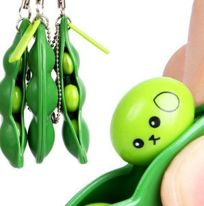 Fun Simulated Mskwee Beans Anti Stress Squishy Fidget Keychain Squishy Toys For Kids And Adults