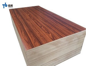 Furniture usage colorful melamine mdf board with high quality