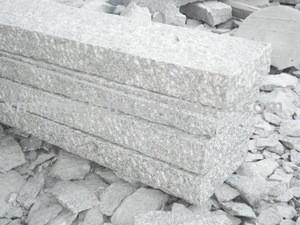 Grey granite curbstone