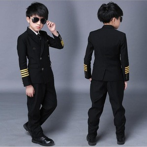 Hot selling kids boy airline pilot uniform dress suit for kids
