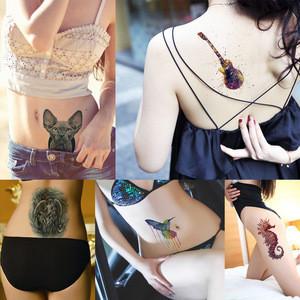 Large Fake Body Temporary Tattoo Sticker Stocking  KM118 - KM159