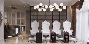 Modern Custom Interior Design Manicure Table Nail Salon Furniture Nail Bar Design